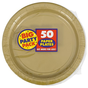 Gold Big Party Pack Dinner Plates