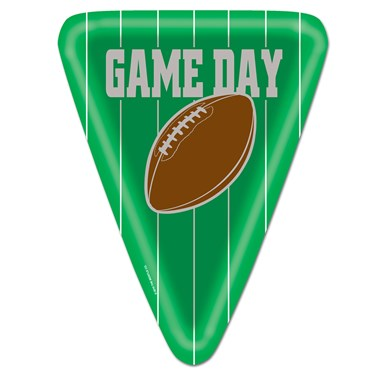 Game Day Football Shaped Dinner Plates