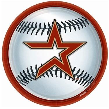 Houston Astros Baseball Round Dinner Plates