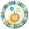 Sweet Safari Blue 1st Birthday Dinner Plates