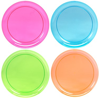 Neon Plastic Dinner Plates Assorted