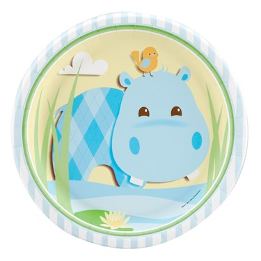 Hippo Blue Dinner Plates