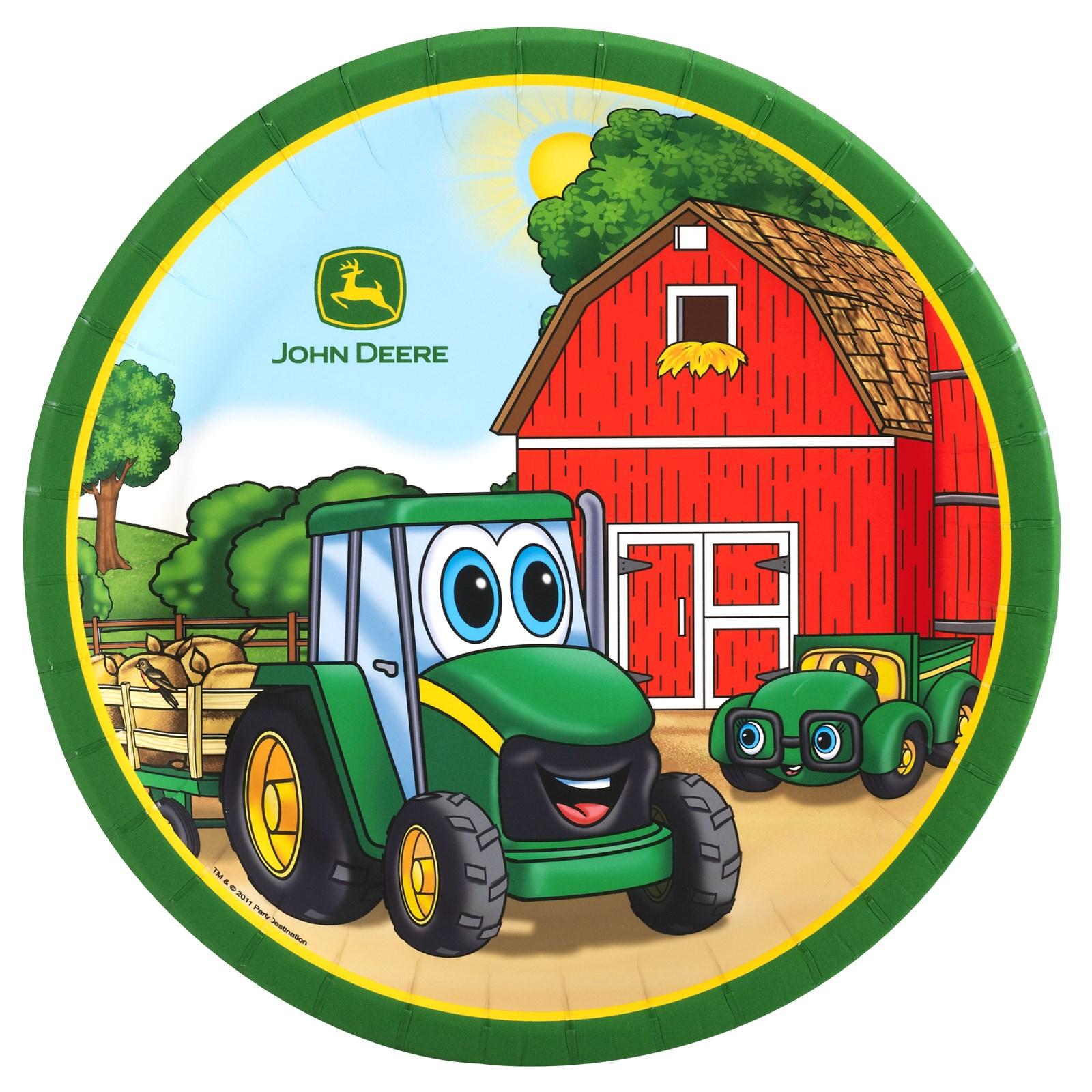 John Deere Johnny Tractor Dinner Plates