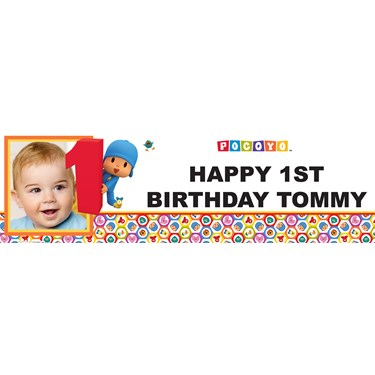 Pocoyo 1st Birthday Personalized Photo Banner