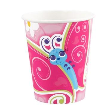 Flutterby Butterflies 9 oz. Paper Cups