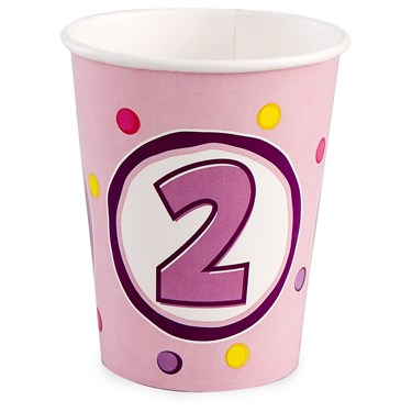 Girl's Lil' Cupcake 2nd Birthday 9 oz. Paper Cups