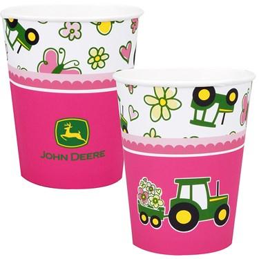 John Deere Pink 9 oz. Paper Cups