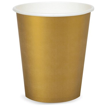 Glittering Gold (Gold) 9 oz. Cups