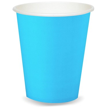 Bermuda Blue (Turquoise) 9 oz. Paper Cups