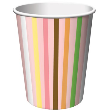 Sweet Safari Pink 1st Birthday 9 oz. Paper Cups