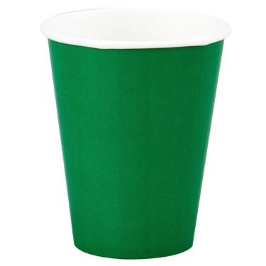 Emerald Green (Green) 9 oz. Paper Cups