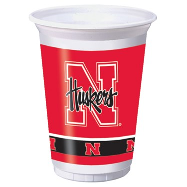 Nebraska Cornhuskers 20 oz. Plastic Cups