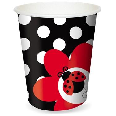 LadyBug Fancy 9 oz. Paper Cups