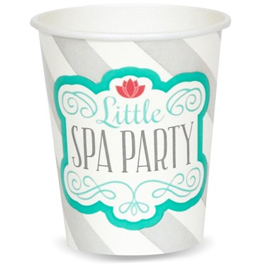 Little Spa Party 9 oz. Paper Cups