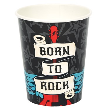 Born to Rock 9 oz. Paper Cups