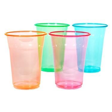 Neon 16 oz. Soft Plastic Cups