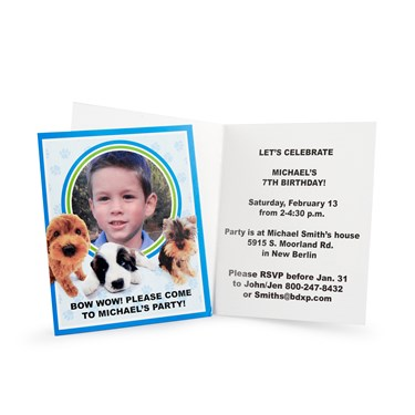 THE DOG Personalized Invitations