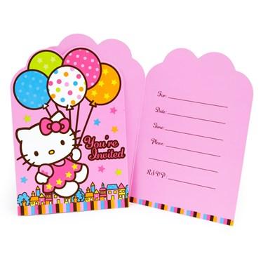 Hello Kitty Balloon Dreams Invitations