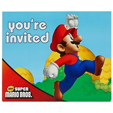 Super Mario Bros. Invitations