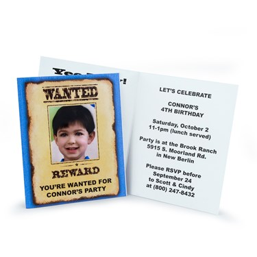 Cowboy Personalized Invitations