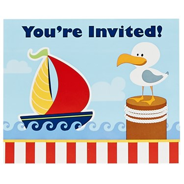 Anchors Aweigh Invitations