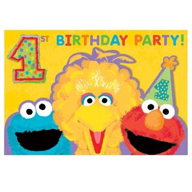 Sesame Street 1st Birthday - Invitations