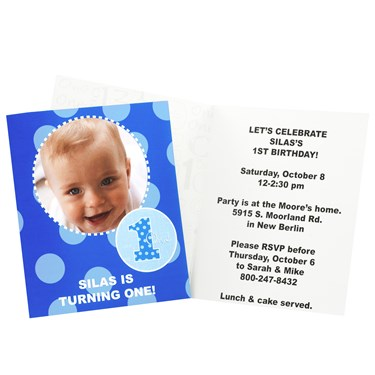 Everything One Boy Personalized Invitations
