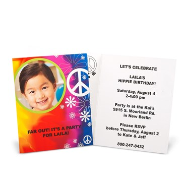 Tie Dye Fun Personalized Invitations
