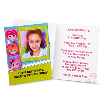 Lalaloopsy Personalized Invitations