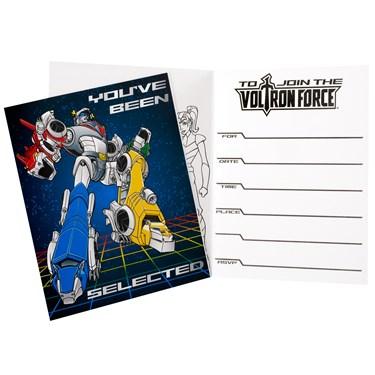 Voltron Force Invitations