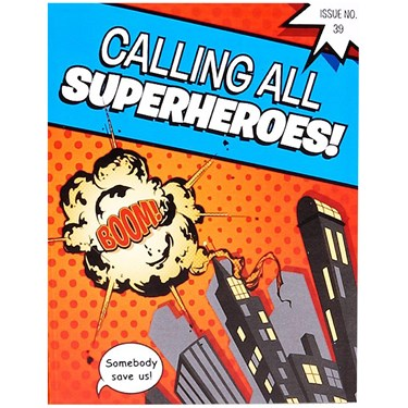 Superhero Comics Invitations