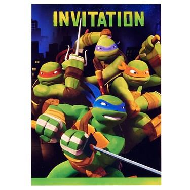 Nickelodeon Teenage Mutant Ninja Turtles Invitations