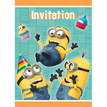 Minions Despicable Me - Invitation (8)