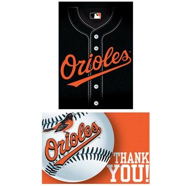 Baltimore Orioles Baseball - Invites & Thank-You Combo
