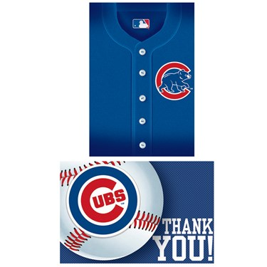 Chicago Cubs Baseball - Invites & Thank-You Combo