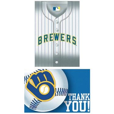 Milwaukee Brewers Baseball - Invite & Thank-You Combo
