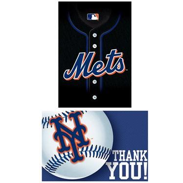 New York Mets Baseball - Invite & Thank-You Combo