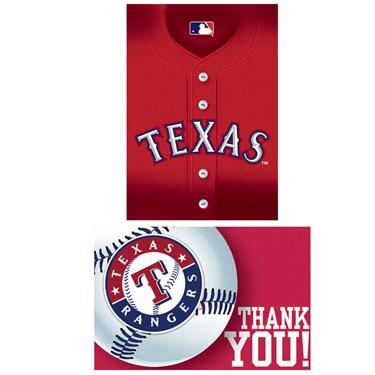 Texas Rangers Baseball - Invite & Thank-You Combo