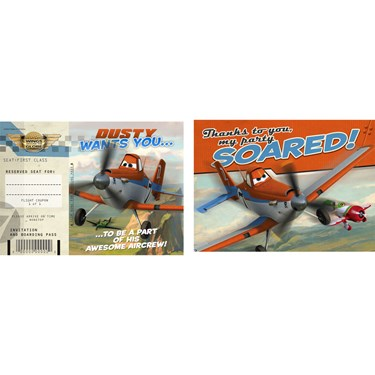 Disney Planes Invitations & Thank-You Postcards