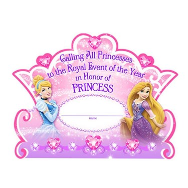 Disney Very Important Princess Dream Party Invitations &Thank-You Postcards