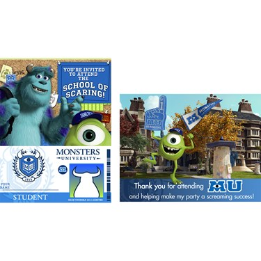 Disney Monsters U Invitations & Thank-You Postcards