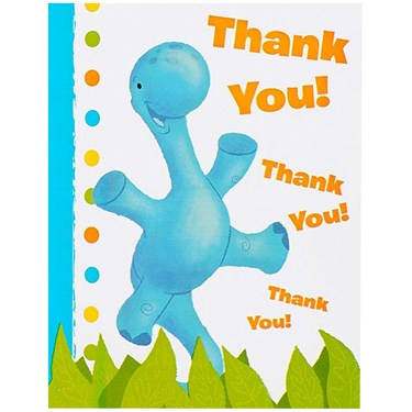Little Dino 1st Birthday Thank-You Notes