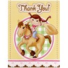 Pink Cowgirl Thank-You Notes (8)
