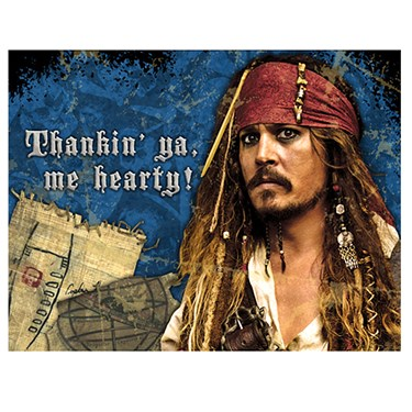 Disney Pirates of the Caribbean 4 Thank-You Notes