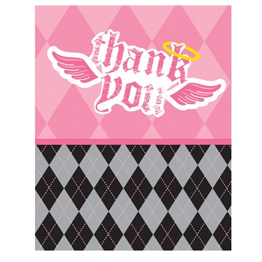 Lil' Angel 1st Birthday Thank-You Notes