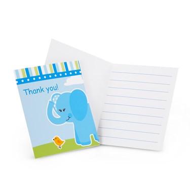 Blue Elephants Thank-You Notes