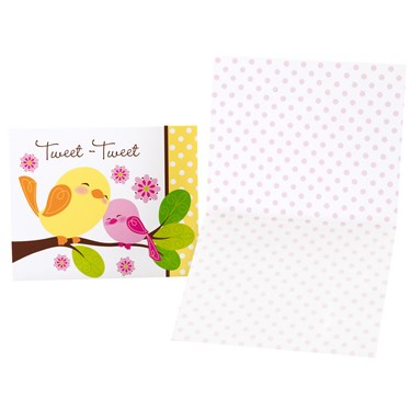 Sweet Tweet Bird Pink - Thank-You Notes
