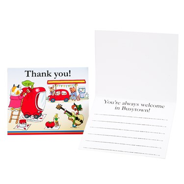Richard Scarry's Busytown Thank-You Notes