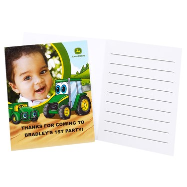 Johnny Tractor 1st Birthday - Personalized Thank-You Notes