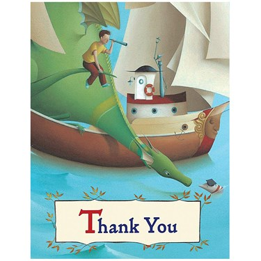 Puff, the Magic Dragon Thank-You Notes